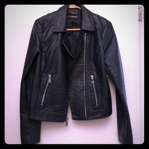 Express navy moto jacket - medium